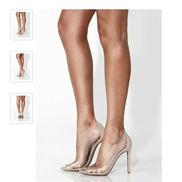Jluxlabel Clear Pointed Toe Pumps